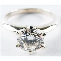 Ladies 925 Sterling Silver 'Moissanite' Ring 6.50m