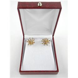 MM Design - Burst Cluster Gold Plated Earring with