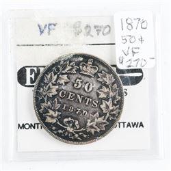 1870 Canada 50 Cents. (VF) (21) (MIR)