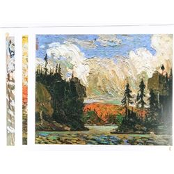 """Group (3) Tom Thomson Lithos 20x23"""" LE with Gold"""