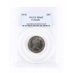 Canada 1970 25 Cent PCGS MS65 (ME)
