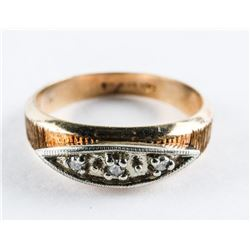 Estate Ladies 10kt Gold Diamond Band Ring Size 5 3