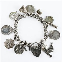 Estate Sterling Silver - Charm Bracelet with Charm