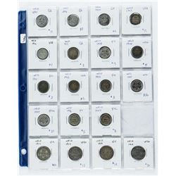 Group (19) Silver 10 Cents and 25 Cents (SGE)