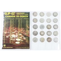 Collection - (20) Canada Silver 25 Cent - Victoria
