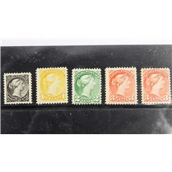 Early Canada Stamps - Small Queens Mint CAT 34,35,