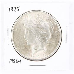 1925 US Silver peace Dollar MS64. (GE)