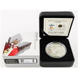 2007 925 Silver Olympic Coin $25.00 Curling