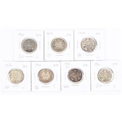 Group (7) CAN Silver 25 cent 1900s (GK)