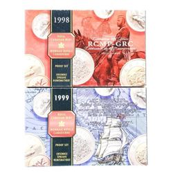 Lot (2) RCM 1998 and 1999 Silver Proof Sets