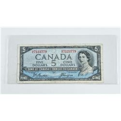 Bank of Canada 1954 Devil's face 5.00 (VF) (CR)