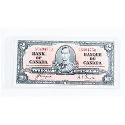 Bank of Canada 1937 2.00 BC-22c GEM UNC. EPQ. C/T