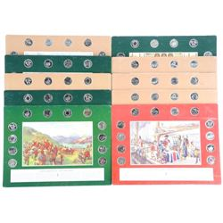 Group of (10) RCM 25 Cent Coin Boards, Early Canad