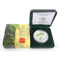 RCM 2001 .9999 Fine Silver $5.00 Maple Leaf - Colo