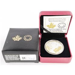 .9999 Fine Silver $20.00 Coin 'Royal Ontario Museu