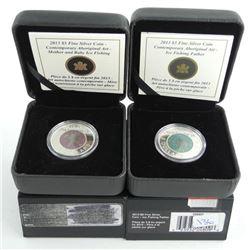Lot (2) .9999 Fine Silver and Niobium $5.00 Coins