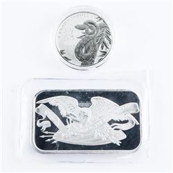 Collector Bullion .9999 Fine Silver 1 oz Bar, Plus