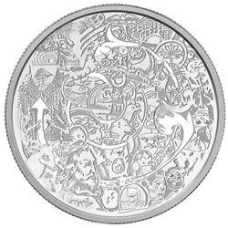 2014 .999 Fine Silver $30.00 Coin Contemporary Art