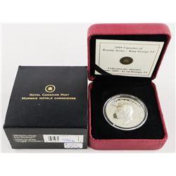 2009 925 Silver King George VI Vignette $15.00 Coi