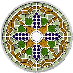 .9999 Fine Silver $20.00 Coin Stained Glass Casa L