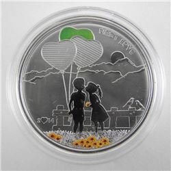 925 Sterling Silver $5.00 'Love' Coin LE.