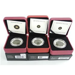 Group of (3) .9999 Fine Silver $4.00 Coins Dinosau