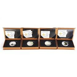 Group of (4) .9999 Fine Silver $20.00 Coins 'Baby