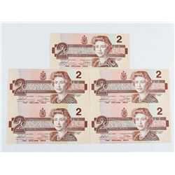 Bank of Canada 1986 2.00 UNC (5) Consecutive Large