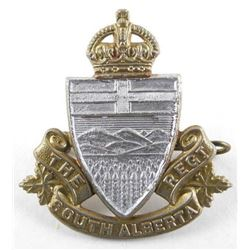 WWII South Alberta Regt. Cap Badge