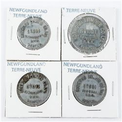 Group of (4) NFLD Tokens: 3 x 50 cents and *1 x 1.