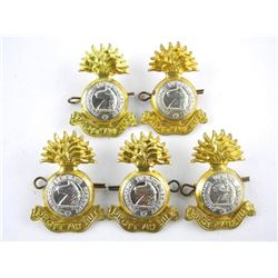 Lot (5) WWII Sherbrooke Fusiliers Cap Badges