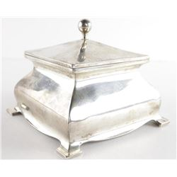 Estate Sterling Silver Covered Box. 215gr