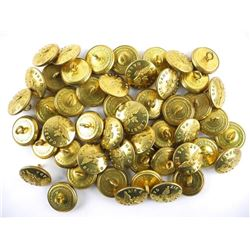 Lot (50) Brass Air Cadets Canada Buttons Made by S