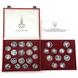 MOSCOW 1980 28pc Set Silver Russian Olympic Coins