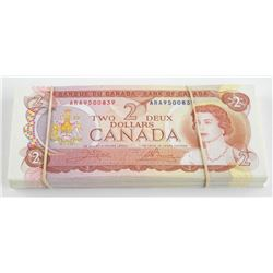 Group of (90) Bank of Canada 2.00 3 Letter Prefix