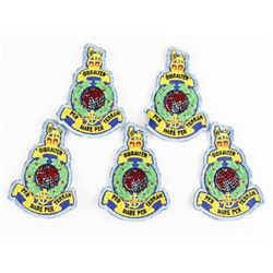 Lot (5) Queen's Crown Royal Marine 'Gibraltar' Mis