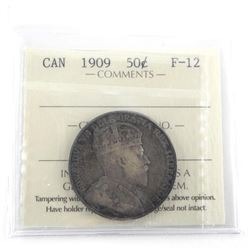 1909 Canada Silver 50 Cent F-12. ICCS.