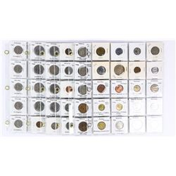 Estate Collection 6 Pages x 20 Coins (2x2) World,