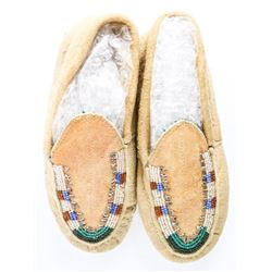 Handmade 'Moccasin' Shoes with Beads