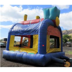 3 Inflatable Bounce Houses (1 in Good Condition, 2 Need Holes Repaired)