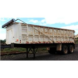 1995 Double Axle J&J Truck Bodies Dump Trailer w/ Side Door & Tarp Roller