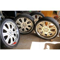 Qty 4 Crusade Tires on Asanti Luxury Wheel Rims 305/30ZR26 109W