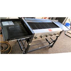 Master Forge Propane Gas BBQ Outdoor Grill GR2045402-MF-00 & Cover/Trays