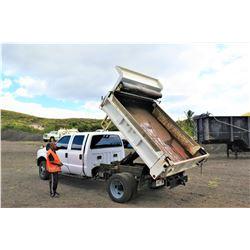 2001 Ford F450 Super Duty Power Stroke Diesel V8 Dually Truck w/ Dump Bed (Runs & Drives, See Video)