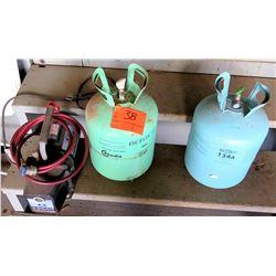 Weitron 134a Refrigeration & Isceon 22 Chrodia Cylinder & JB Eliminator Pump