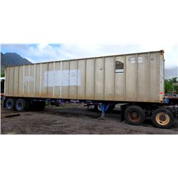 40' Shipping Container on Double Axle Chassis w/ Contents Included