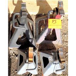 Qty 4 Metal Automotive Jack Stands