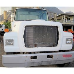 Ford L9000 White Single Axle Truck Tractor w/ Cummins Engine & Air Brakes