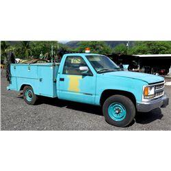 GM Chevy Cheyanne Service Truck w/ Hobart Welder, Safety Lights, etc