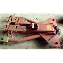 Rolling 4 Caster Red Metal Transmission Floor Jack Lift